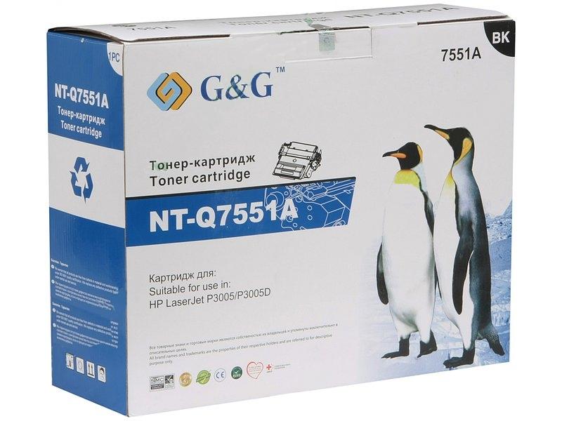 Аксессуар G&G NT-Q7551A for HP LaserJet P3005/P3005D