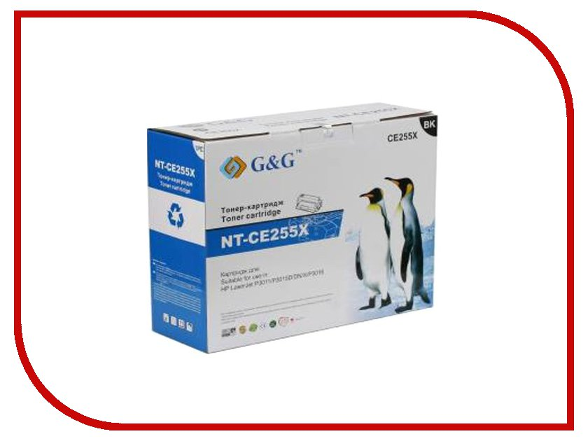 Картридж G&amp;G NT-CE255A for HP LaserJet P3011/P3015/P3016<br>