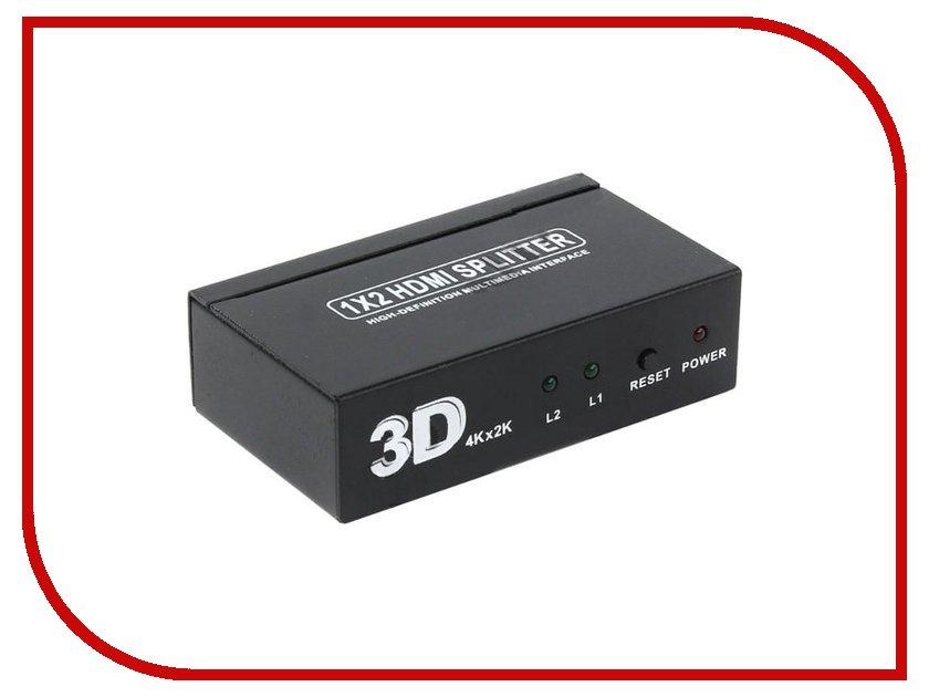 Аксессуар Orient HDMI 1.4/3D Splitter 1x2 HSP0102H<br>
