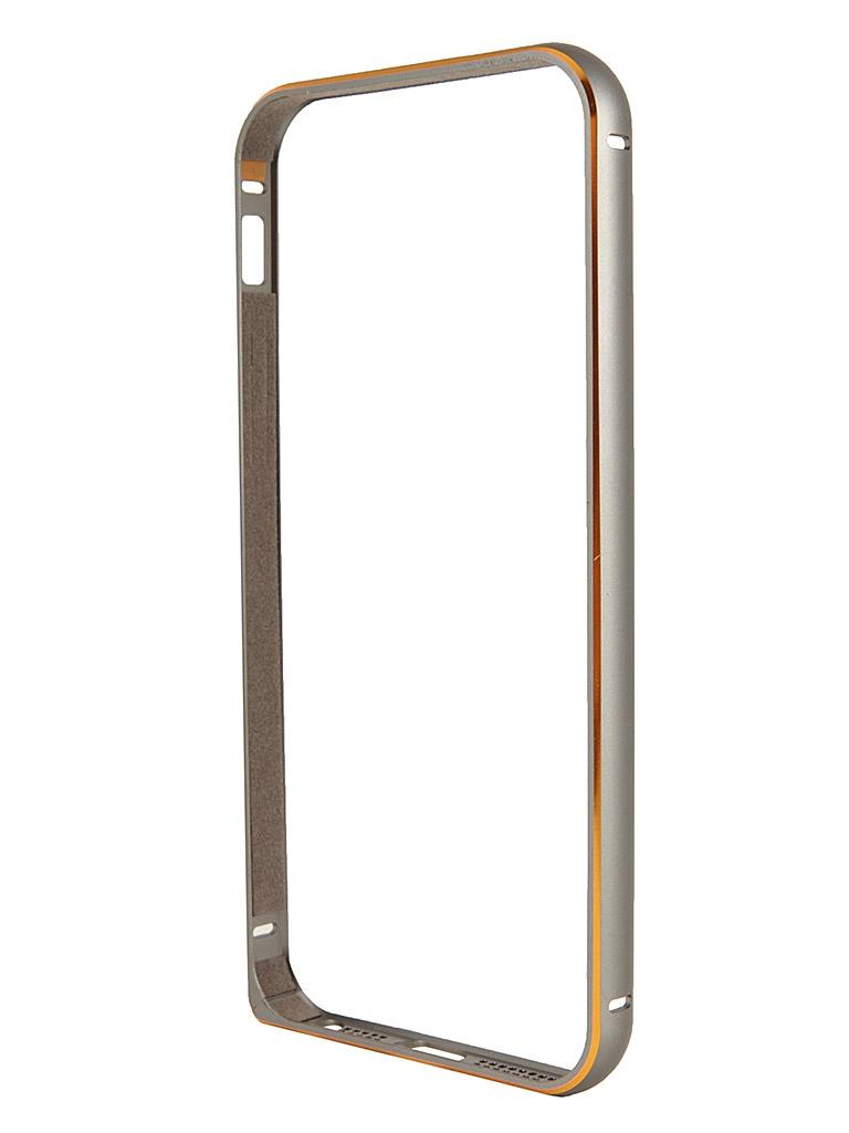 Аксессуар Чехол-бампер Ainy for iPhone 5 Silver QC-A008Q