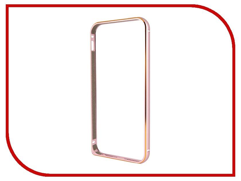 Аксессуар Чехол-бампер Ainy для iPhone 5 Pink QC-A008D<br>