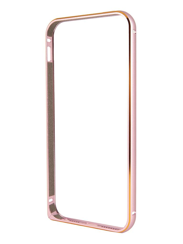 Аксессуар Чехол-бампер Ainy for iPhone 5 Pink QC-A008D