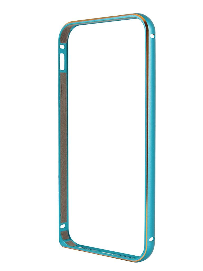 Аксессуар Чехол-бампер Ainy for iPhone 5 Blue