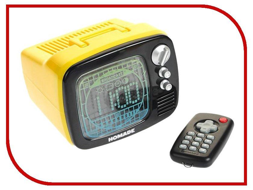 Гаджет Эврика Будильник телевизор с пультом ДУ Yellow 94844