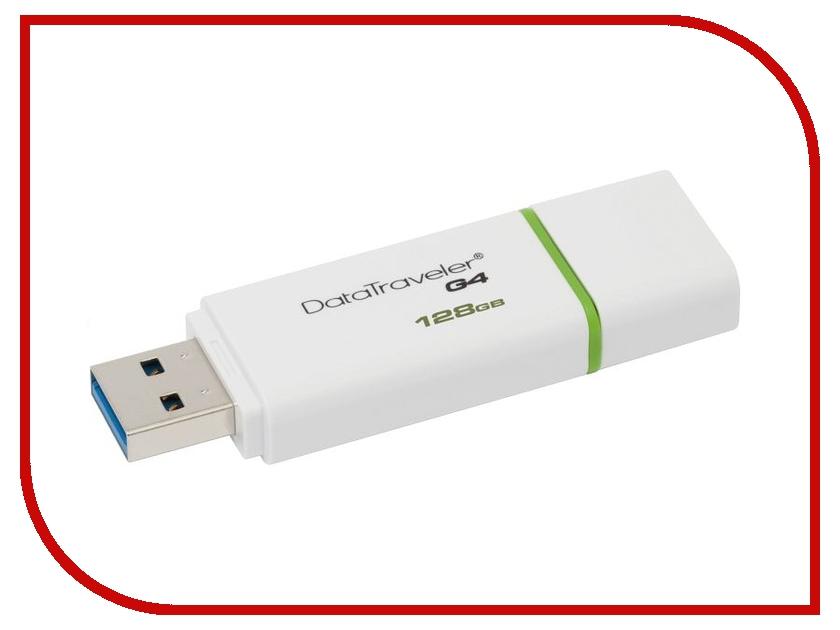 USB Flash Drive 128Gb - Kingston DataTraveler G4 USB 3.0 DTIG4/128GB<br>