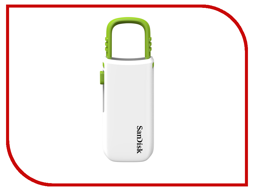 USB Flash Drive 8Gb - SanDisk Cruzer U White-Green SDCZ59-008G-B35WG