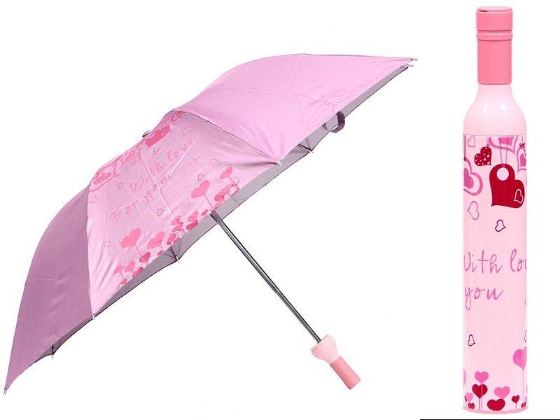 Зонт Эврика В бутылке Pink Love 91542