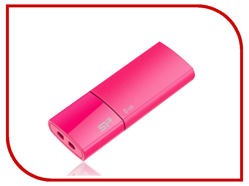 USB Flash Drive 8Gb - Silicon Power Ultima U05 USB 2.0 Pink SP008GBUF2U05V1H<br>