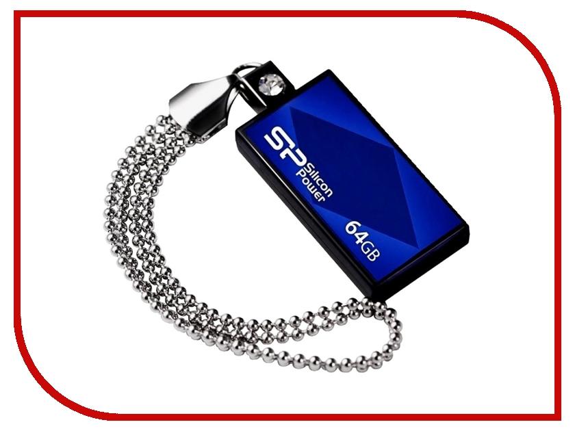 USB Flash Drive 64Gb - Silicon Power Touch 810 Blue SP064GBUF2810V1B