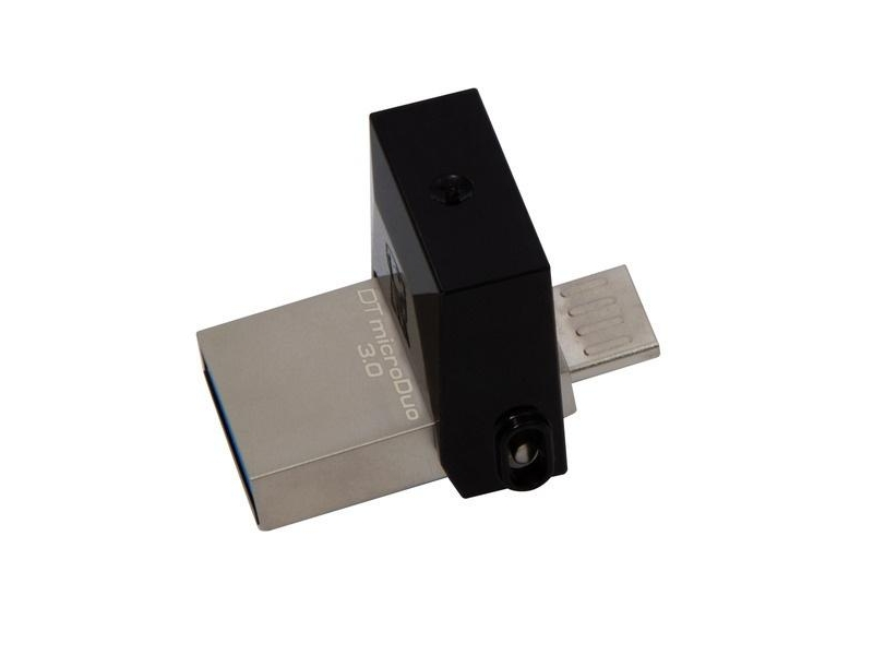 USB Flash Drive 16Gb - Kingston DataTraveler microDuo USB3.0 DTDUO3/16GB usb flash накопитель 16gb kingston datatraveler swivl dtswivl 16gb usb 3 0 черный