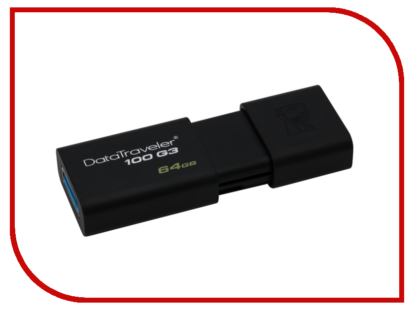 USB Flash Drive 64Gb - Kingston DataTraveler DT100 G3 DT100G3/64GB