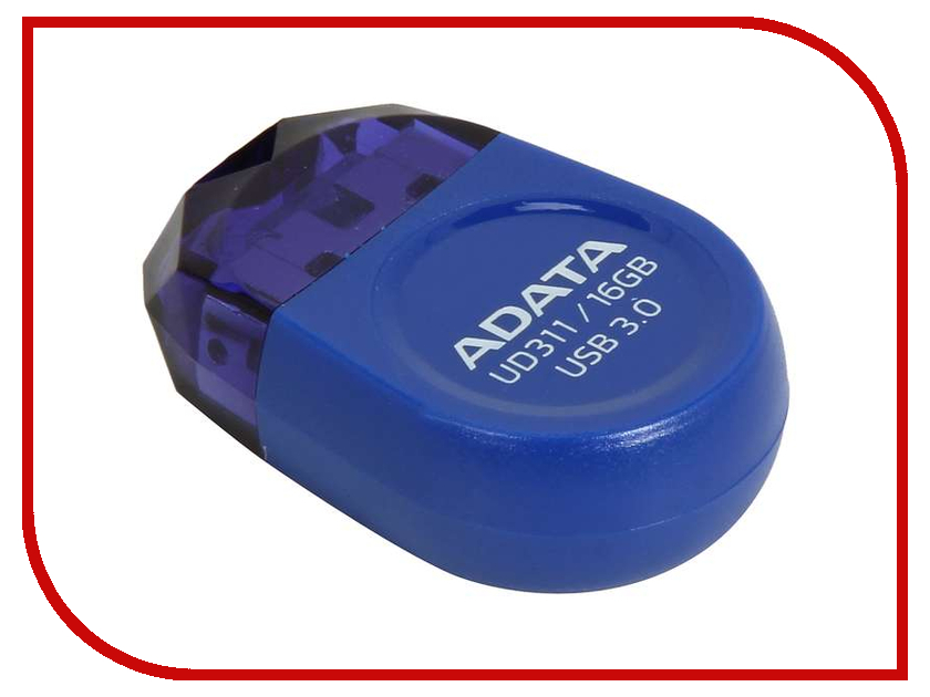 USB Flash Drive 16Gb - A-Data DashDrive Durable UD311 Blue AUD311-16G-RBL<br>