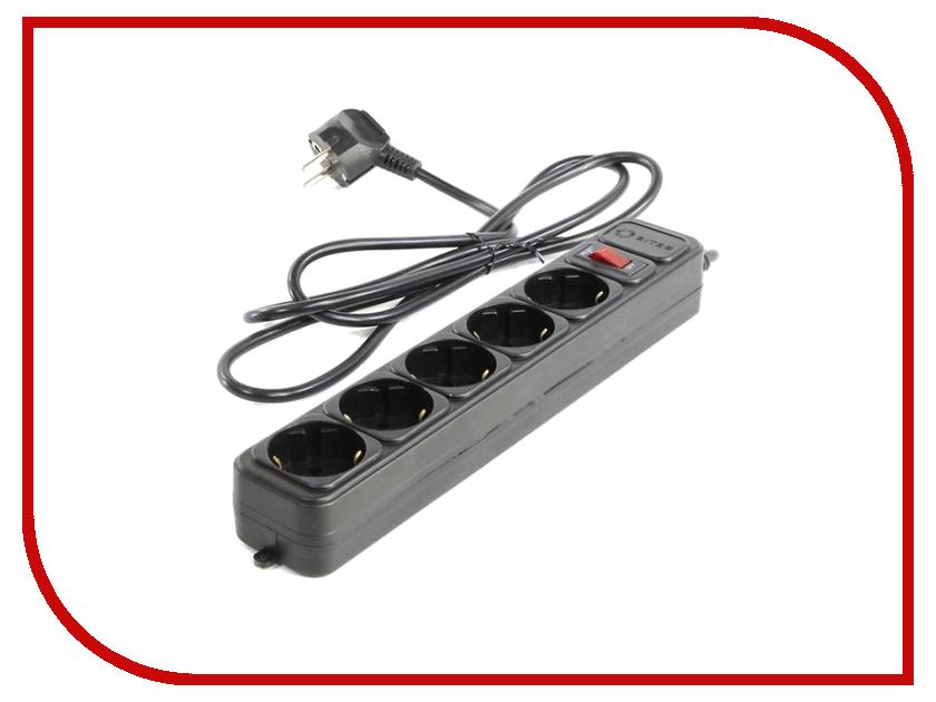 Сетевой фильтр 5bites 5 Sockets 1m Black SP5-B-10