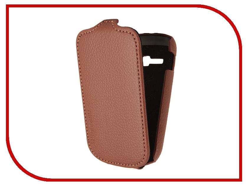 Аксессуар Чехол Samsung Galaxy Fame Lite S6790 Aksberry Brown<br>