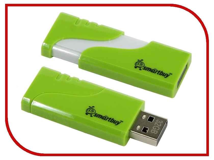 USB Flash Drive 16Gb - SmartBuy Hatch Green SB16GBHTH-G