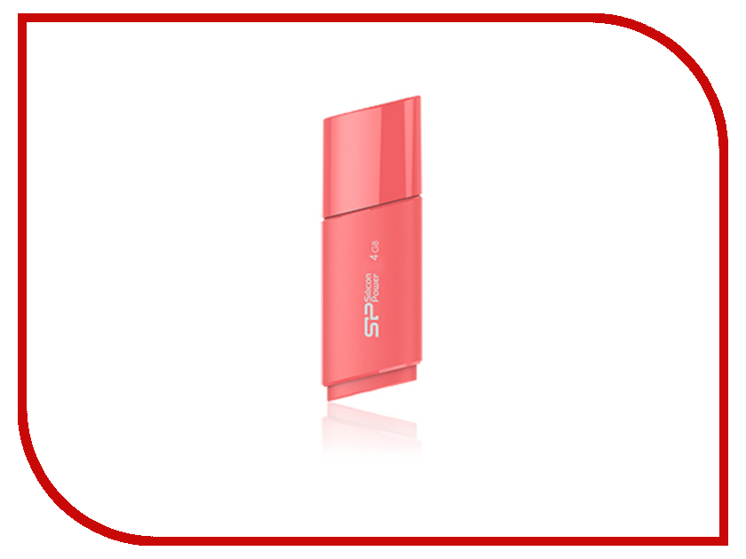 USB Flash Drive 4Gb - Silicon Power Ultima U06 Pink SP004GBUF2U06V1P<br>