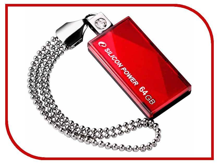 USB Flash Drive 64Gb - Silicon Power 810 Red SP064GBUF2810V1R<br>