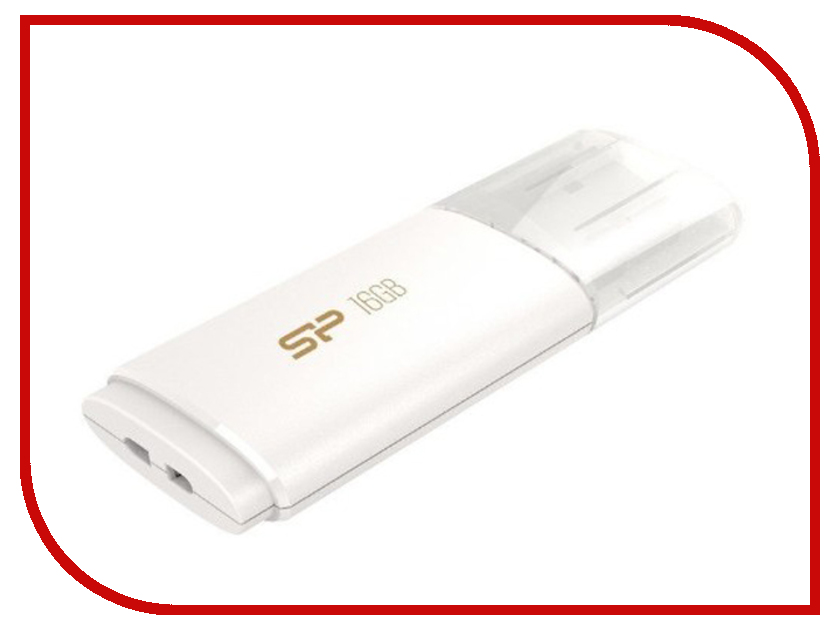 USB Flash Drive 16Gb - Silicon Power Blaze B06 USB 3.0 White SP016GBUF3B06V1W<br>
