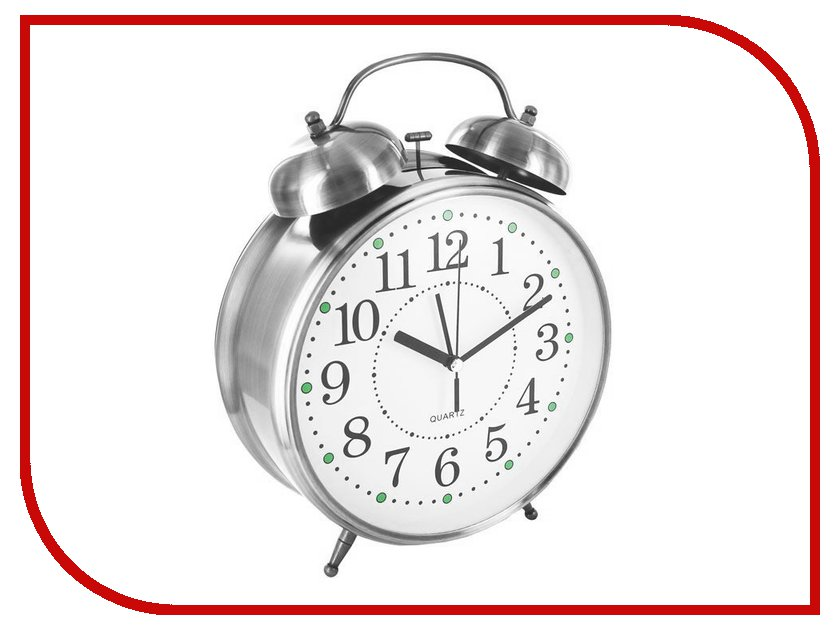 Часы Эврика CBS001-003C11 - Часы Будильник Гигант Nickel часы эврика античасы классика белая стеклянные