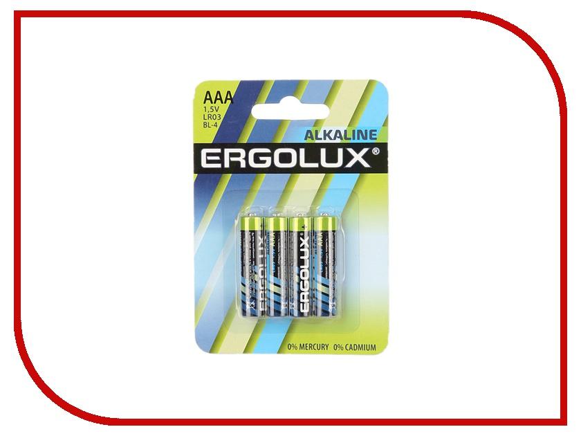 Батарейка AAA - Ergolux LR03 Alkaline BL-4 LR03 BL-4