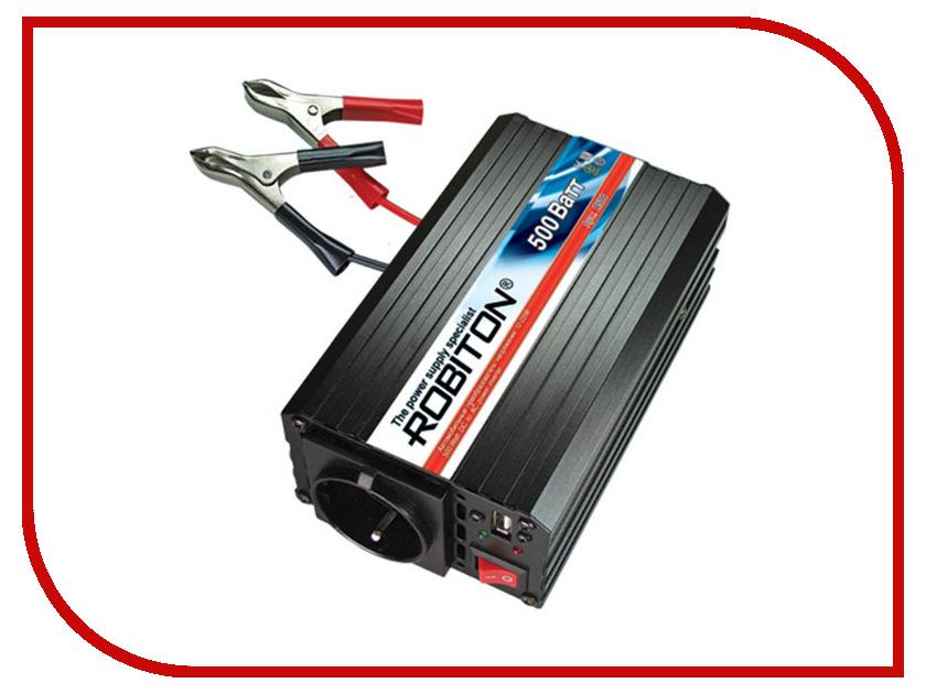 Автоинвертор Robiton R500 500W USB с 12В на 220В<br>