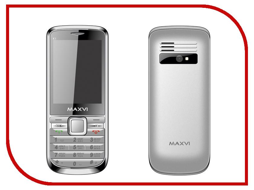 Сотовый телефон Maxvi K1 Silver<br>