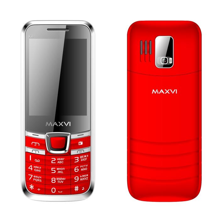 Сотовый телефон Maxvi K6 Red<br>