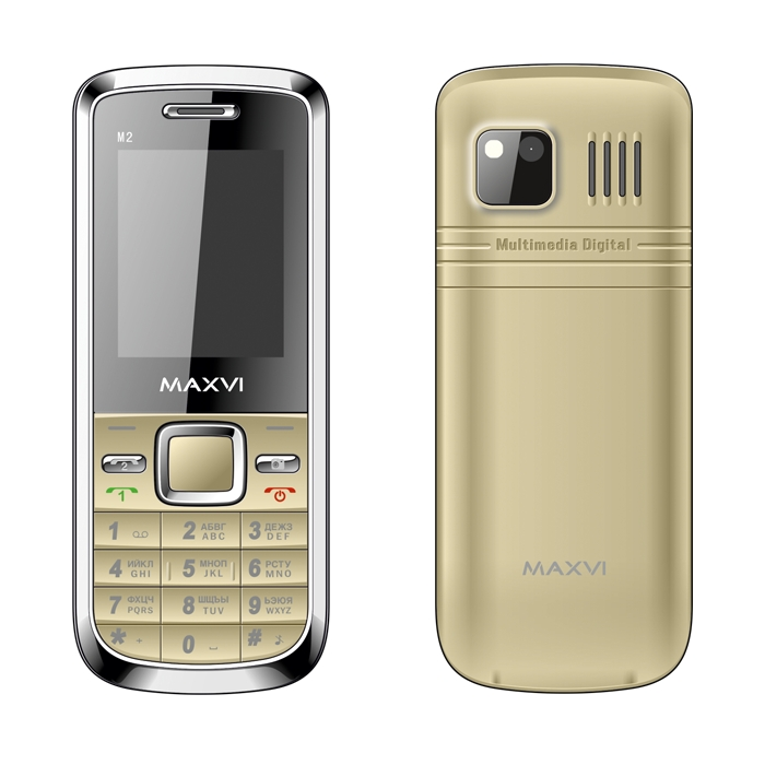 Сотовый телефон Maxvi M2 Gold<br>