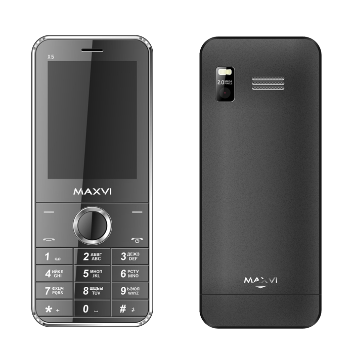 Сотовый телефон Maxvi X500 Black<br>