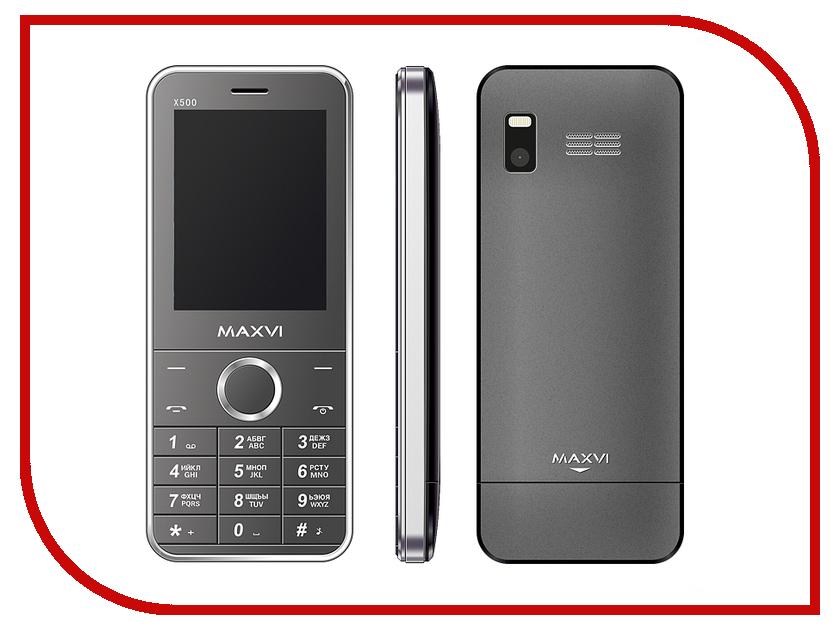 Сотовый телефон Maxvi X500 Silver<br>