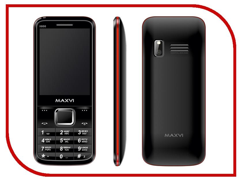 Сотовый телефон Maxvi X800 Black-Red сотовый телефон maxvi c20 black