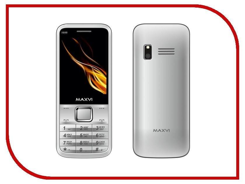 Сотовый телефон Maxvi X800 Silver<br>