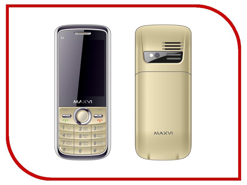 Сотовый телефон Maxvi K5 Gold