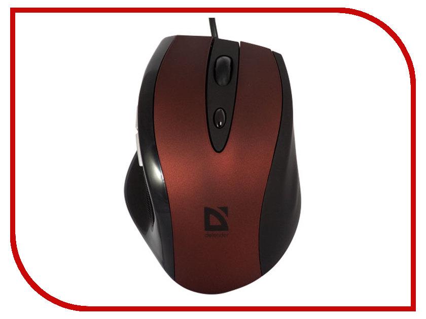 Мышь проводная Defender Opera 880 Red 52832<br>