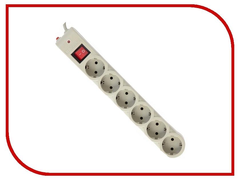 Сетевой фильтр Defender DFS 601 6 Sockets 1.8m 99406