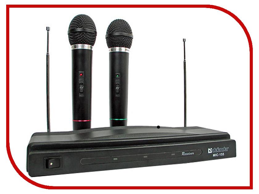 Радиомикрофон Defender MIC-155 Black 64155<br>