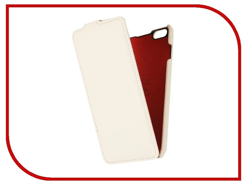 Аксессуар Чехол iRidium 5.5-inch for iPhone 6 Plus натуральная кожа White