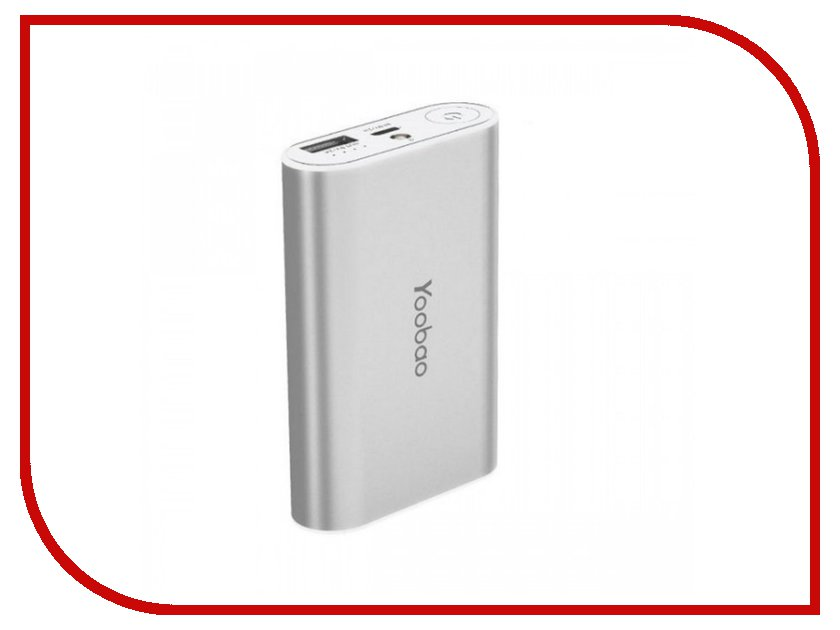 Аккумулятор Yoobao Power Bank Master M3 YB-6013 7800 mAh Silver<br>