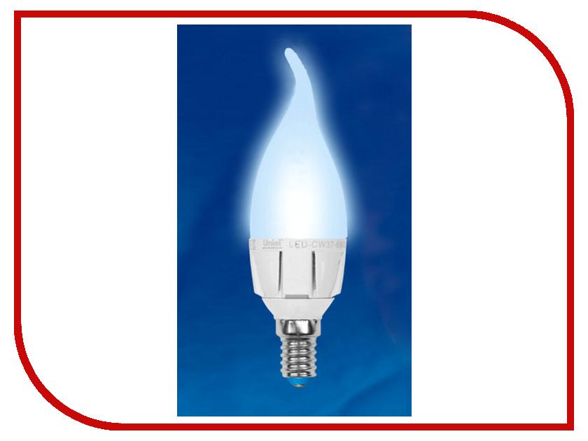 Лампочка Uniel LED-CW37-6W/NW/E14/FR/DIM ALP01WH свеча на ветру<br>
