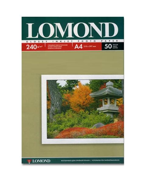 Фотобумага Lomond 102135 глянцевая A4 240g/m2 50 листов
