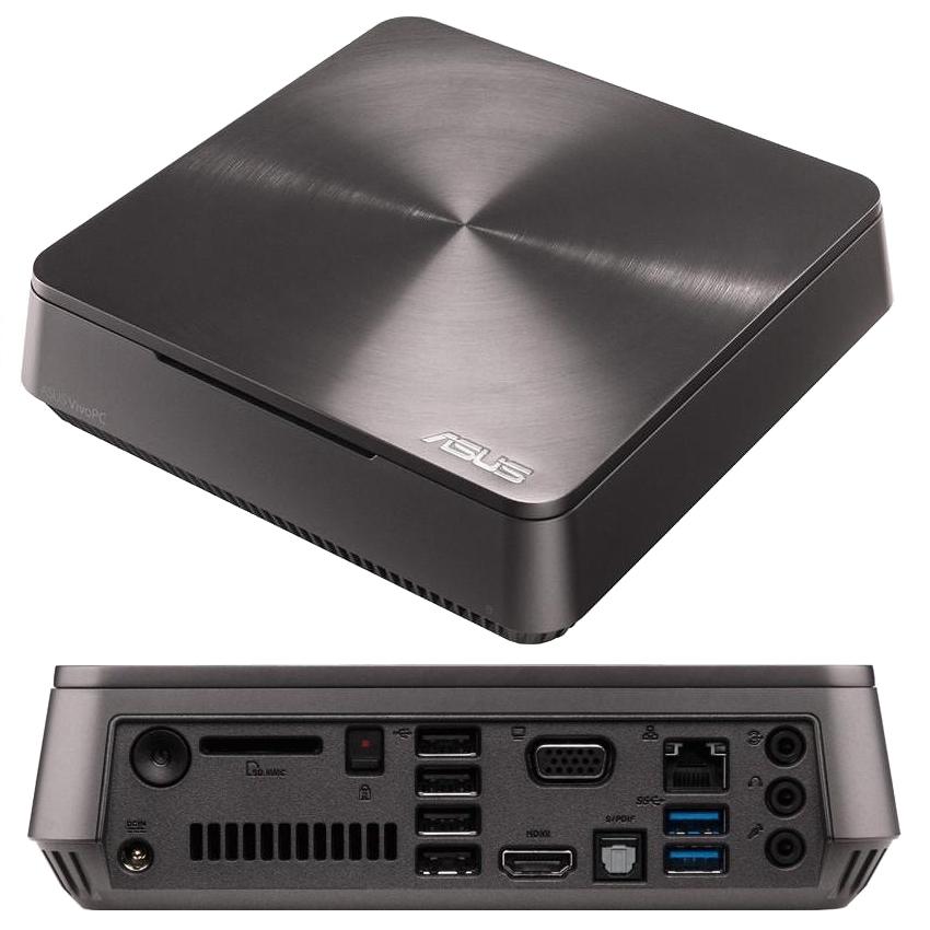 Неттоп ASUS VivoPC VM60 90MS0061-M00270 (Intel Core i5-3337U 1.8 GHz/4096Mb/500Gb/Intel HD Graphics/Wi-Fi/DOS)