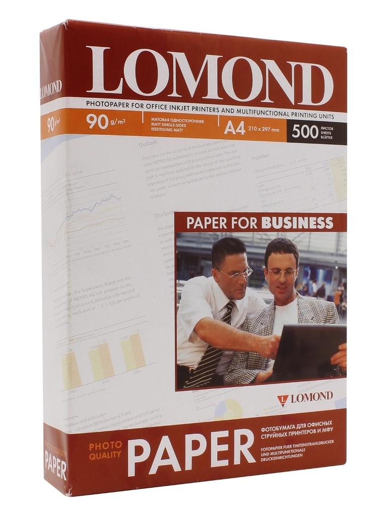 Фотобумага Lomond 0102131 матовая 90g/m2 A4 одностороняя 500 листов