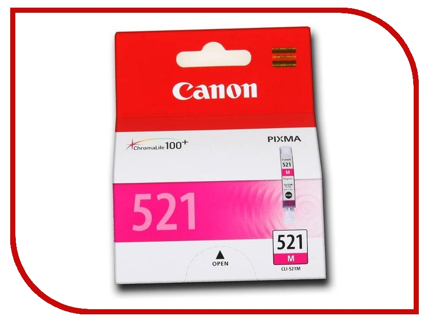 Картридж Canon CLI-521M Magenta для Pixma iP3600/iP4600/MP540/MP620/MP630/MP980 2935B004 картридж colouring cg cli 521bk black для canon ip3600 ip4600 mp540 mp620 mp630 mp980