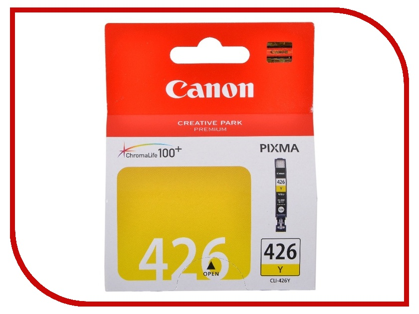 Картридж Canon CLI-426Y Yellow для iP4840/MG5140/MG5240/MG6140/MG8140 4559B001 t2 ic cpgi 425bk картридж для canon pixma ip4840 mg5140 mg6140 mg8140 mx884 black