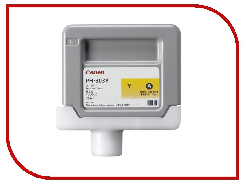 Картридж Canon PFI-303Y Yellow для iPF815/825 2961B001
