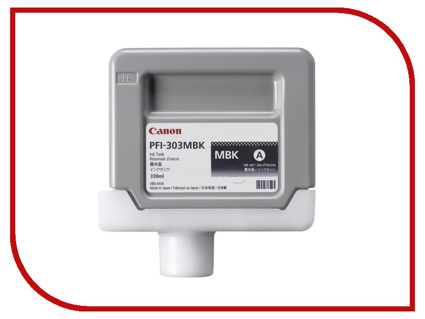 Картридж Canon PFI-303MBK Black для iPF815/825 2958B001 картридж canon pfi 307m magenta 330ml для ipf 830 840 850 9813b001