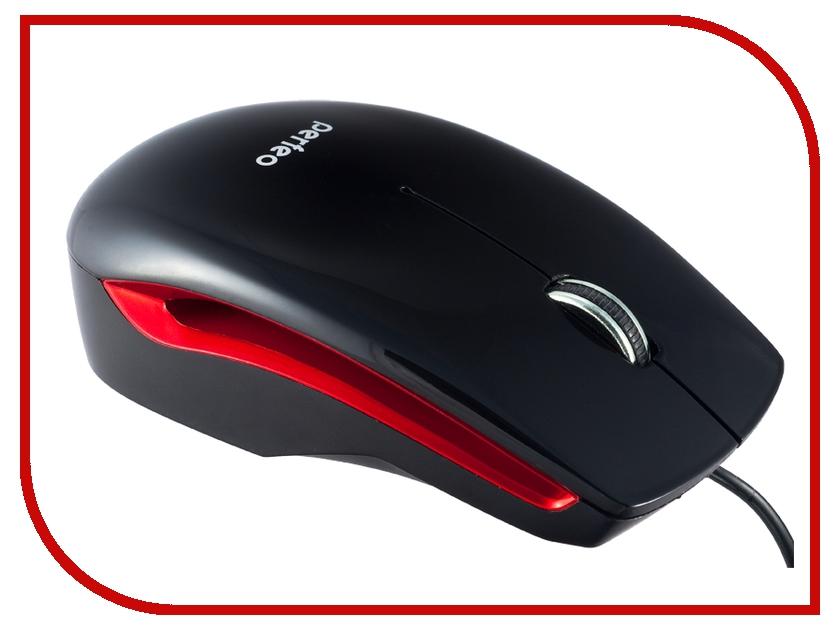 Мышь проводная Perfeo Fashion PF-3108-OP-B Black-Red