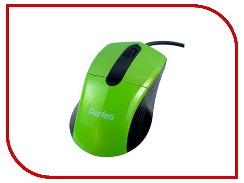 Мышь проводная Perfeo Color PF-203-OP-GN Green<br>