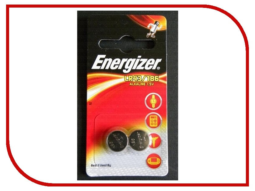Батарейка LR43 186 - Energizer Alkaline 1.5V (2 штуки) kitcpm04910cteveen91 value kit colgate palmolive dishwashing liquid cpm04910ct and energizer industrial alkaline batteries eveen91