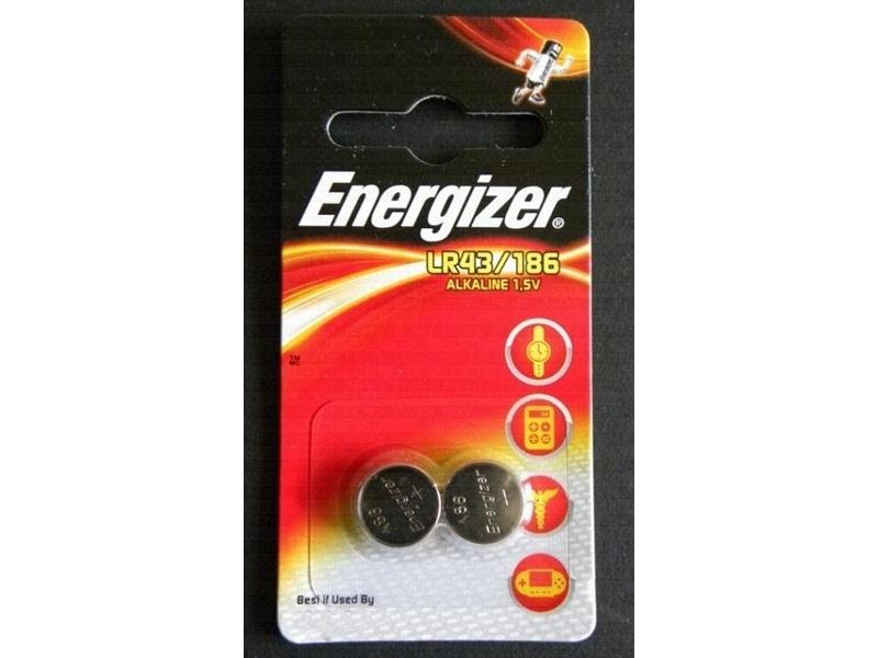 Батарейка LR43 186 - Energizer Alkaline 1.5V (2 штуки) 639319 / 21423